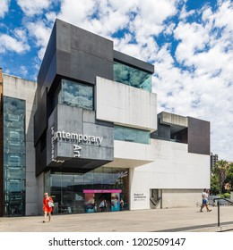 Sydney, Australia - December 30 2017: Exterior view of the Museum of Contemporary Art