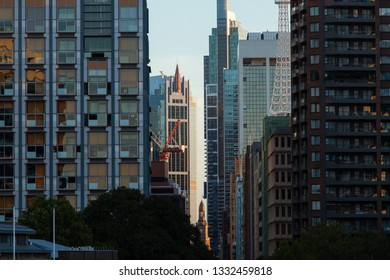 Sydney, Australia - February 17, 2019: Dense buildings view from Sydney CBD north side.