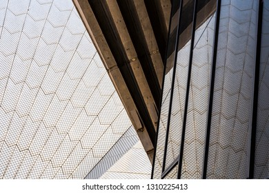 Sydney, Australia - February 2, 2017:  Sydney Opera House architectural details.