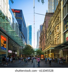 Sydney, Australia - February 22, 2017: Beautiful Building and shopping area in Sydney.
