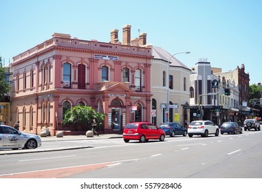 SYDNEY, AUSTRALIA - JANUARY 16, 2017: Old building in Newtown suburb