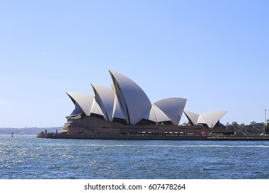 SYDNEY, AUSTRALIA - JANUARY 23, 2017: View at Sydney Opera House, Australia. It was opened at 1973 and represent one of the 20th century most famous buildings