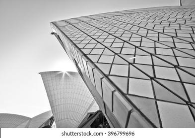 Sydney, Australia - January 23 : View of Sydney skyline and Opera House in a sunny day on January 23, 2015 in Sydney, Australia.