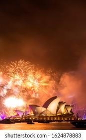 Sydney, Australia, January 26 2019, Firework attraction to celebrate Australian Day