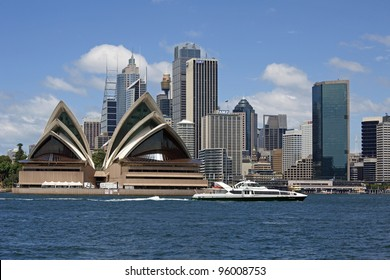 SYDNEY, AUSTRALIA - JANUARY 30, 2012: Famous 'Sydney Opera House,' the UNESCO Heritage Site, opened in 1975, was designed and built by Danish architect Jorn Utzon. January 30, 2012, Sydney, Australia