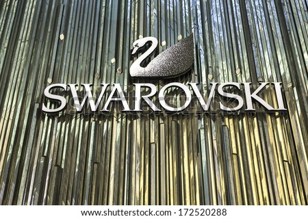 11f4c05d48d608 SYDNEY AUSTRALIA JANUARY 4 Swarovski Logo Stock Photo (Edit Now ...