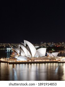 Sydney, Australia - January 9, 2021: Sydney Opera House view at night.
