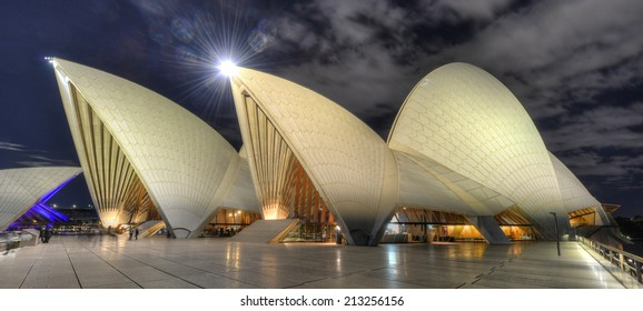 SYDNEY, AUSTRALIA- JUL 28: The Sydney Opera House on July 28th, 2012 in Sydney, Australia. The Opera House was made a UNESCO World Heritage Site in June 2007 and is Australia most famous landmark.
