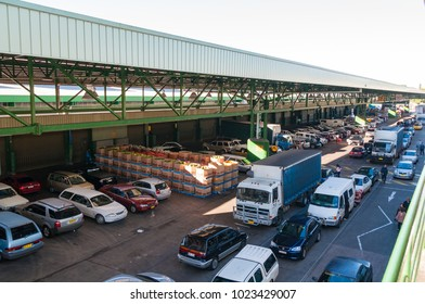 Sydney, Australia - July 18, 2009: Traffic infrastructure at Paddy's Market or Sydney Market, Flemington