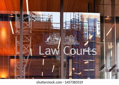 SYDNEY, AUSTRALIA - July 19, 2019: Supreme Court of New South Wales, highest state court of the Australian State of New South Wales. It hears the most serious criminal and civil matters.