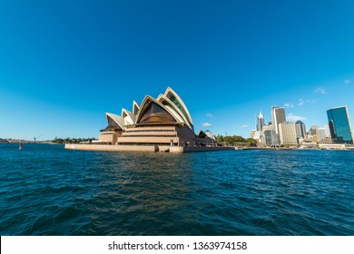 Sydney, Australia - July, 23, 2016: Circular Quay with Sydney Opera House and Sydney CBD on sunny day