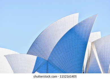Sydney, Australia - JULY 28, 2016: Abstract View of the Exterior of Sydney Opera House
