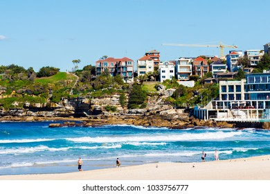 SYDNEY, AUSTRALIA - July 4th, 2013: view of Bondi Beach one of the most famous areas of Sydney in winter with clear weather