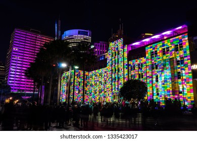Sydney, Australia - Jun 06, 2015: The annual Vivid Sydney festival of light, music and ideas