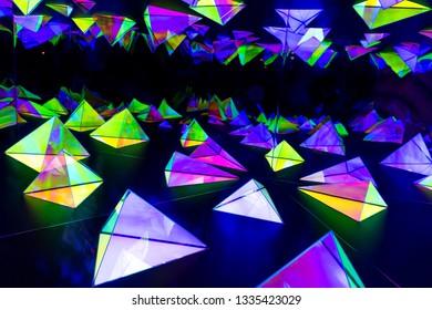 Sydney, Australia - Jun 06, 2015: Light installations at the annual Vivid Sydney festival of light, music and ideas