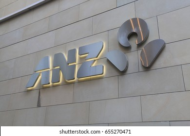 SYDNEY AUSTRALIA - JUNE 1, 2017: Australia and New Zealand Bank ANZ. ANZ is one of the four largest bank in Australia and the largest in New Zealand.