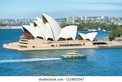 Sydney, Australia - June 10, 2018: The Sydney Opera House is a multi-venue performing arts centre identified as one of the 20th century's most distinctive buildings