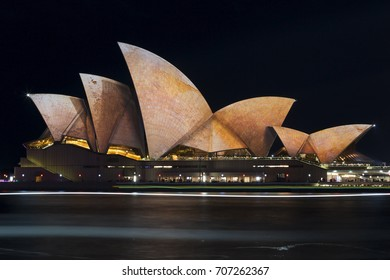 SYDNEY, AUSTRALIA - JUNE 2016; Opera House during the event Vivid Sydney.