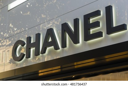 Sydney, Australia - June 26, 2016: Close-up of Chanel store exterior during daytime. Chanel is a high fashion house specialising in haute couture, luxury goods and fashion accessories.