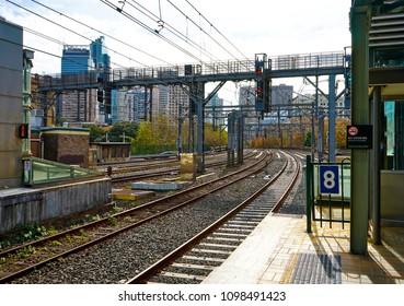 Sydney, Australia - June 9, 2016 : railway at Central station