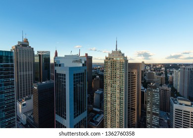 Sydney, Australia - March 30, 2019: South Sydney CBD view from the top in the afternoon.