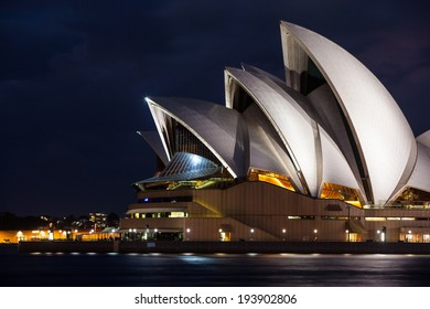 Sydney, Australia - May 12 - Sydney Opera House on a beautiful autumn evening on May 12th 2014.