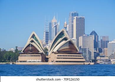 Sydney, Australia - May 13, 2017: Sydney Opera House and CBD in daytime