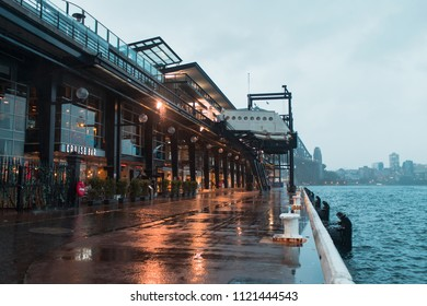 Sydney, Australia - May 13, 2018: Overseas passenger terminal at rainy day.