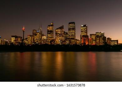 Sydney, Australia, May 15 2014, Sydney city in the night