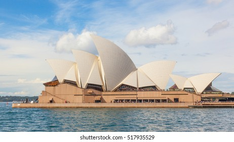 SYDNEY, AUSTRALIA - MAY 20, 2010: With its interlocking roof or 'shells', Sydney Opera House is Australia's most recognizable building and a UNESCO World Heritage Site.
