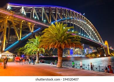 Sydney, Australia - May 23, 2014: Vivid Sydney: A Festival of Light, Music & Ideas