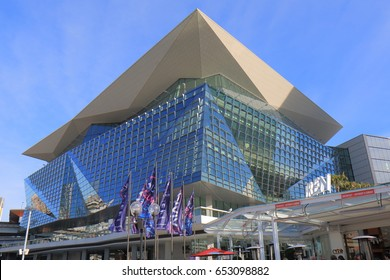 SYDNEY AUSTRALIA - MAY 30, 2017: International Convention Centre in Darling Harbour Sydney.