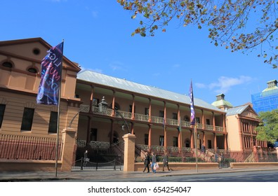 SYDNEY AUSTRALIA - MAY 31, 2017: Unidentified people visit NSW Parliament house.