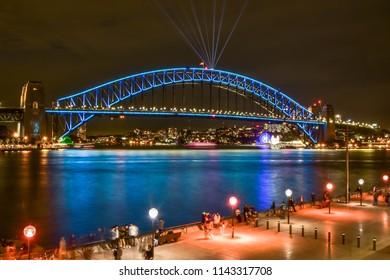 SYDNEY, AUSTRALIA - MAY 31, 2018: Photo of Vivid Sydney