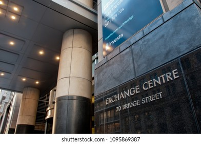 SYDNEY, AUSTRALIA - MAY 5, 2018: Corporate headquarters of ASX Australian Stock Exchange at 20 Bridge Street in Sydney NSW Australia.