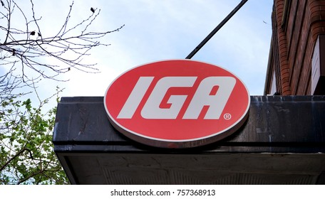 Sydney, Australia - November 03, 2017: Independent Grocers of Australia or IGA are a network of small independent supermarkets, such as this store located in Sydney CBD.