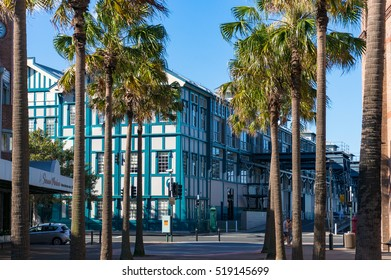 Sydney, Australia - November 13, 2016: Historic architecture of Woolloomooloo wharf as viewed from Forbes street