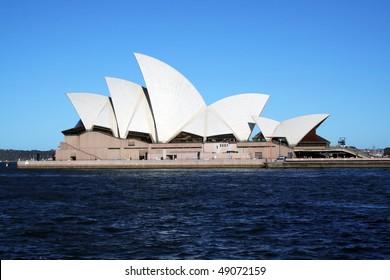 SYDNEY, AUSTRALIA - NOVEMBER 18: Side view of Sydney Opera House. on November 18, 2005 in Sydney, Australia.