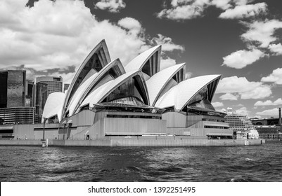Sydney, Australia - November 24 2018: Sydney Opera House with a cruise ship docked behind in Circular Quay. The top tourist destination in Australia, over 10 million people visit Sydney each year.