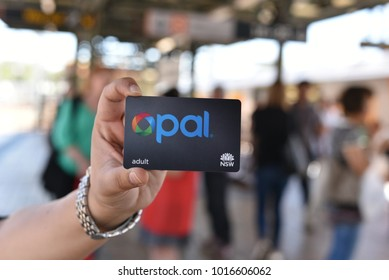 SYDNEY, AUSTRALIA. – November 3, 2016. - Human hand with Opal card, it is a contactless smartcard ticketing system for public transport services in the greater Sydney area.