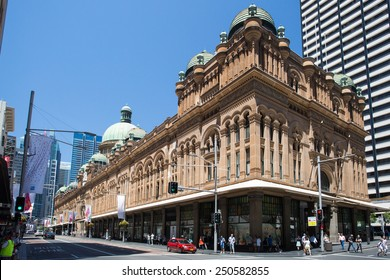 SYDNEY, AUSTRALIA - NOVEMBER 30 2014: Queen Victoria Building on a sunny Sydney day in spring.