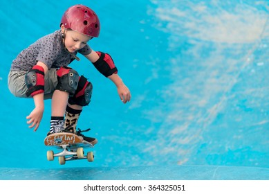 Sydney, Australia - November 8, 2015: Unknown skateboarder is doing skating tricks at Bondi Skate Park. Bondi Beach Skate Park is one of the best vert bowls in he country.