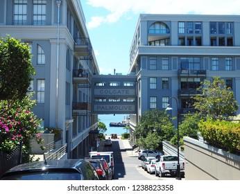 SYDNEY, AUSTRALIA - NOVEMBER 8, 2018: Colgate Residential Building (renovated from former Colgate Factory) in Balmain suburb near Sydney city