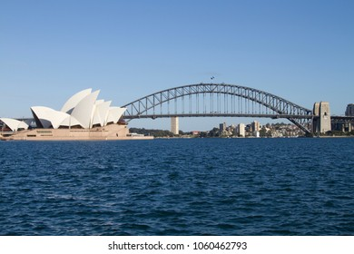 Sydney, Australia - Oct 1, 2012:  Harbor Bridge and Opera House