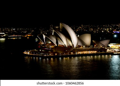 Sydney, Australia - Oct 2, 2012:  Opera House (built in 1959–1973) in the night