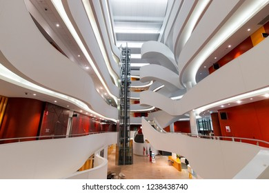 Sydney, Australia - October 10, 2018: Interior of Charles Perkins building at University of Sydney.
