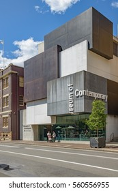 SYDNEY, AUSTRALIA - OCTOBER 11 2016: Museum of Contemporary Art Australia. A museum solely dedicated to exhibiting and collecting contemporary art both from across Australia and around the world