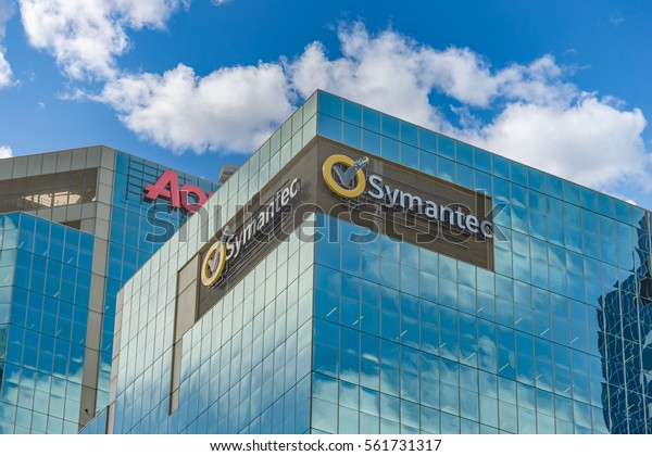 SYDNEY, AUSTRALIA - OCTOBER 13, 2016: Symantic Corporation building in Kent Street, Sydney, Australia.
