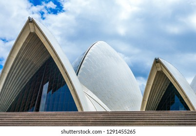 Sydney, Australia - October 17, 2014:  Architectural detail of the Opera House