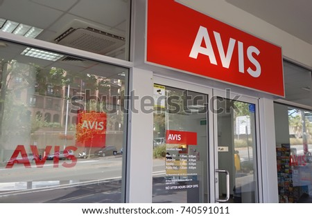 e88a24914 Sydney Australia October 17 2017 Avis Stock Photo (Edit Now) 740591011 -  Shutterstock